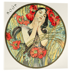 Acrylic print  Les Mois - August - Alfons Mucha