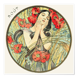 Premium poster  Les Mois - August - Alfons Mucha