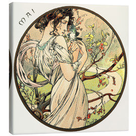 Canvas  Les Mois - May - Alfons Mucha