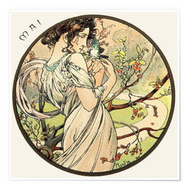 Premium poster  Les Mois - May - Alfons Mucha