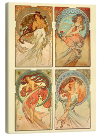 Canvas   The four arts, collage - Alfons Mucha