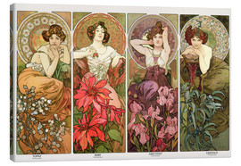 Canvas print  The precious stones - Alfons Mucha