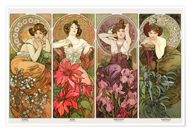Poster  The precious stones - Alfons Mucha