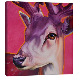 Canvas  Deer Felix Pink - Renate Berghaus