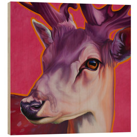 Wood  Deer Felix Pink - Renate Berghaus