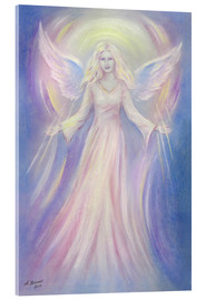 Acrylic glass  Light and love - Angel painting - Marita Zacharias