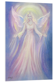 Foam board print  Light and Love - angel painting - Marita Zacharias