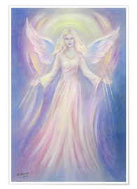 Premium poster Light and Love - angel painting