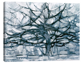 Canvas print  Gray tree - Piet Mondrian