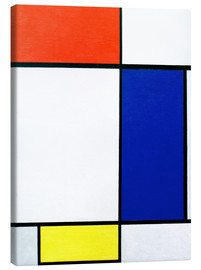Canvas print  Composition with red, yellow, blue - Piet Mondriaan