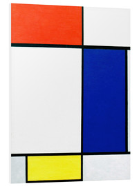 Foam board print  Composition with red, yellow, blue - Piet Mondriaan