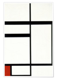 Premium poster Composition Nos. I, Red