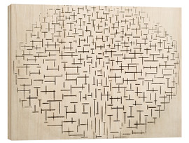 Wood print  Composition in Black and White - Piet Mondriaan