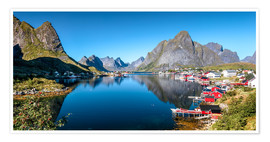 Premium poster Summer on Lofoten Islands
