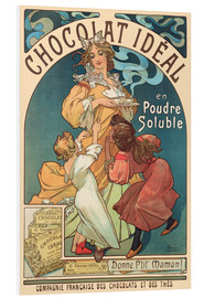 Foam board print  Chocolat Ideal - Alfons Mucha