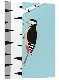 Foam board print  Woodpecker - Sandy Lohß