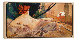 Wood print  Sunrise - Alfons Mucha