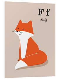Foam board print  The animal alphabet - F like fox - Sandy Lohß