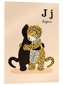 Acrylic print  The Animal Alphabet - J like Jaguar - Sandy Lohß