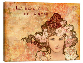 Canvas print  Rose, Collage - Alfons Mucha