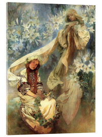 Acrylic print  Lily Madonna - Alfons Mucha