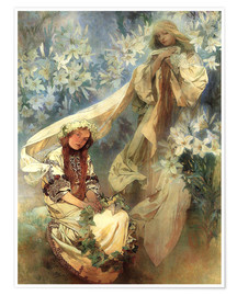 Premium poster  Lily Madonna - Alfons Mucha