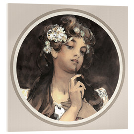 Acrylic print  Watercolor, gouache and pencil, detail - Alfons Mucha