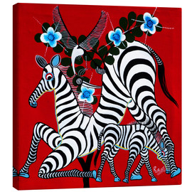 Canvas print  Zebras in the Wild - Rubuni