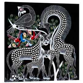 Aluminium print  Black Animals in the savanna - Rubuni