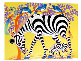Acrylic glass  Zebras walk - Rafiki