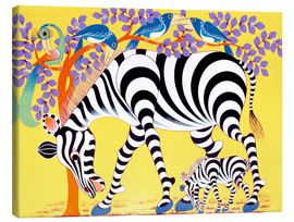 Canvas print  Zebras walk - Rafiki