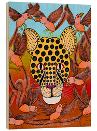 Wood print  Dream of a cheetah - Omary