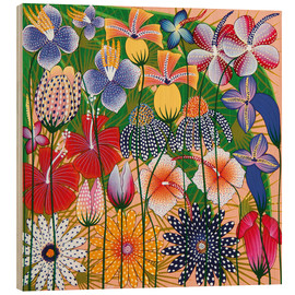 Wood print  Flower miracle of the jungle - Wasia