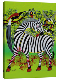 Canvas print  Clean Zebra in - Noel