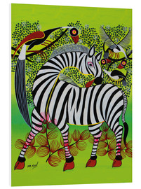Foam board print  Clean Zebra in - Noel