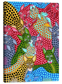 Canvas  Colorful Cheetah meeting - Omary