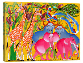 Canvas print  Groups of animals in the bush - Omary