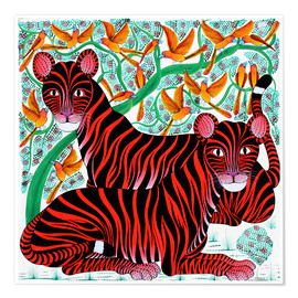 Premium poster  Resting big cats - Omary