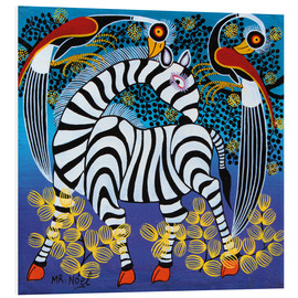 Foam board print  Zebra with herons - Noel