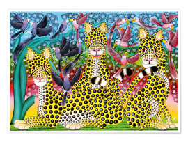 Premium poster  Leopard pack - Omary