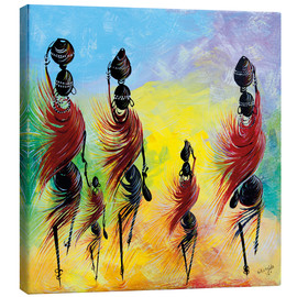 Canvas  Everyday life of African women - Nangida