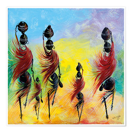 Premium poster  Everyday life of African women - Nangida