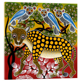 Acrylic glass  Cheetah in the bush - Mzuguno