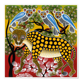 Premium poster  Cheetah in the bush - Mzuguno