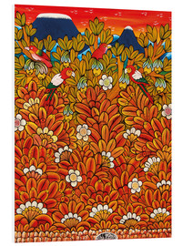 Foam board print  Parrots in the trees - Mzuguno