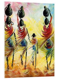 Foam board print  African Women Fetching Water - Nangida