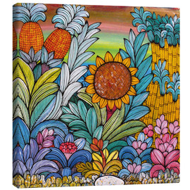 Canvas print  Flowery colors - Mzuguno