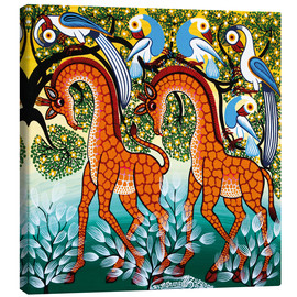 Canvas print  Giraffe in the bush - Mzuguno