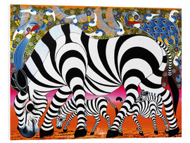 Foam board print  Zebras on foraging - Mustapha