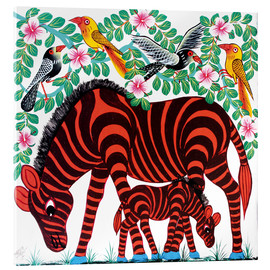 Acrylic glass  Red Zebras - Mrope